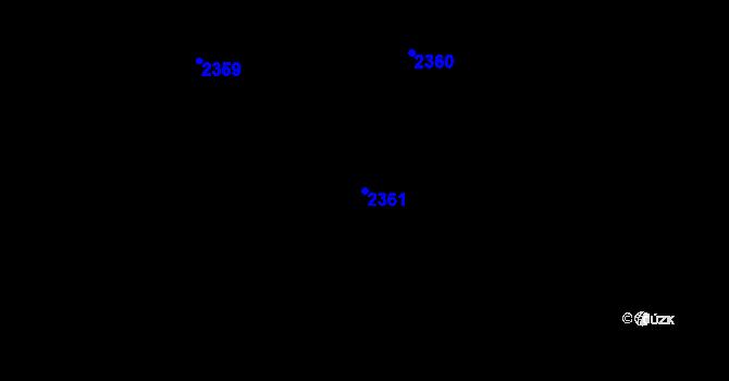 Parcela st. 2361 v k.ú. Milovice u Mikulova, Katastrální mapa