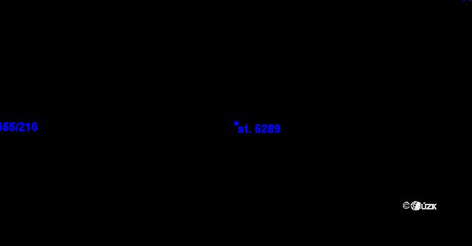 Parcela st. 5289 v k.ú. Mladá Boleslav, Katastrální mapa