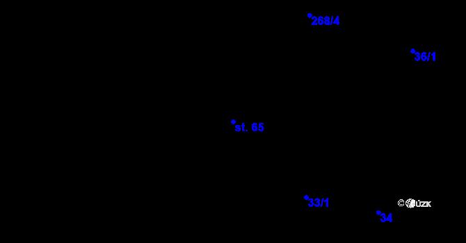 Parcela st. 65 v k.ú. Mlázovy, Katastrální mapa