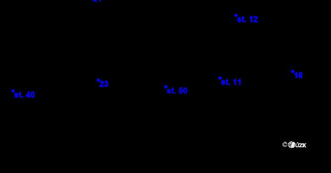 Parcela st. 50 v k.ú. Mohelnice u Nepomuka, Katastrální mapa
