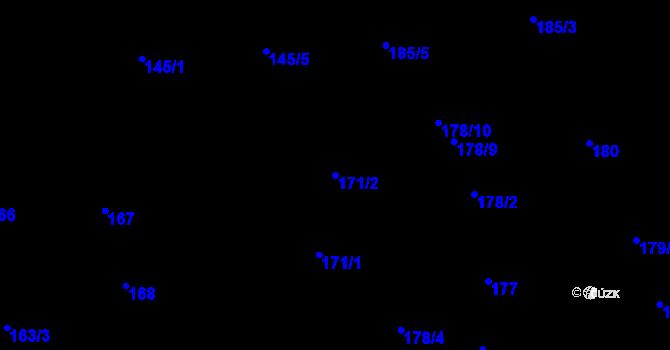 Parcela st. 171/2 v k.ú. Most II, Katastrální mapa