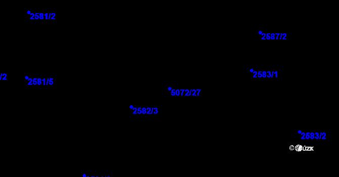 Parcela st. 5072/27 v k.ú. Mosty u Jablunkova, Katastrální mapa
