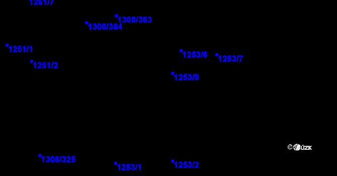 Parcela st. 1253/1 v k.ú. Napajedla, Katastrální mapa