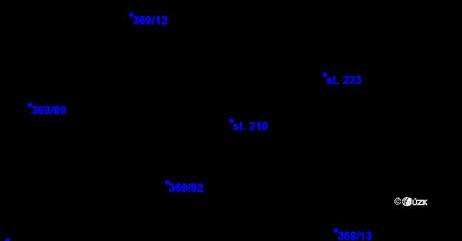 Parcela st. 210 v k.ú. Nedvězí u Olomouce, Katastrální mapa