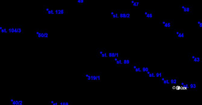Parcela st. 88/1 v k.ú. Nedvězí u Olomouce, Katastrální mapa