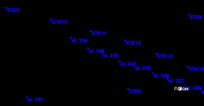Parcela st. 235 v k.ú. Nedvězí u Olomouce, Katastrální mapa