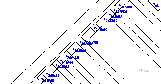 Parcela st. 245/48 v k.ú. Němčice u Holešova, Katastrální mapa