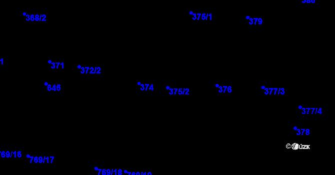 Parcela st. 375/2 v k.ú. Nemilany, Katastrální mapa