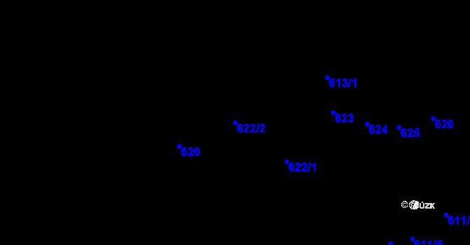 Parcela st. 622/2 v k.ú. Nemilany, Katastrální mapa