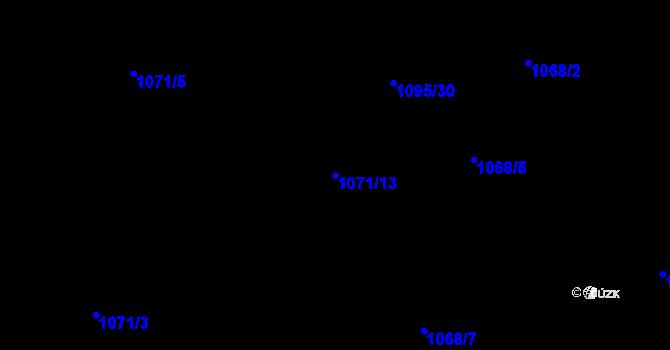 Parcela st. 1071/13 v k.ú. Nevřeň, Katastrální mapa