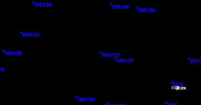 Parcela st. 1981/73 v k.ú. Nivnice, Katastrální mapa