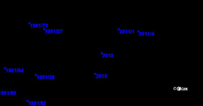 Parcela st. 2010 v k.ú. Nivnice, Katastrální mapa