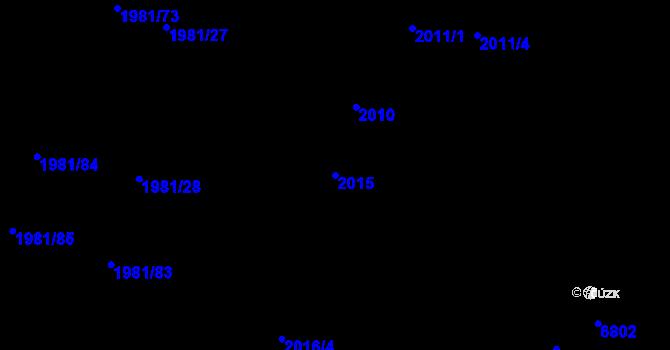Parcela st. 2015 v k.ú. Nivnice, Katastrální mapa