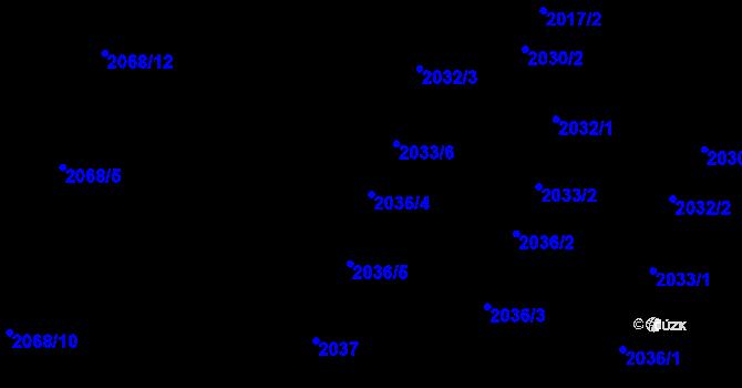 Parcela st. 2036/4 v k.ú. Nivnice, Katastrální mapa