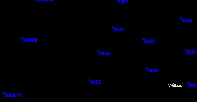 Parcela st. 2049 v k.ú. Nivnice, Katastrální mapa