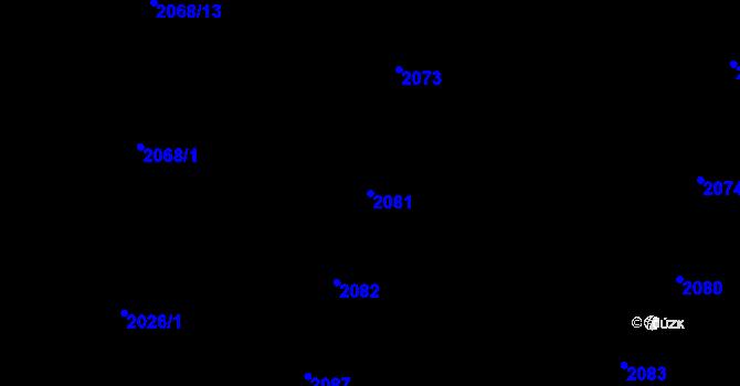 Parcela st. 2081 v k.ú. Nivnice, Katastrální mapa