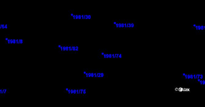 Parcela st. 1981/74 v k.ú. Nivnice, Katastrální mapa