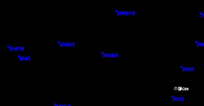 Parcela st. 2068/8 v k.ú. Nivnice, Katastrální mapa