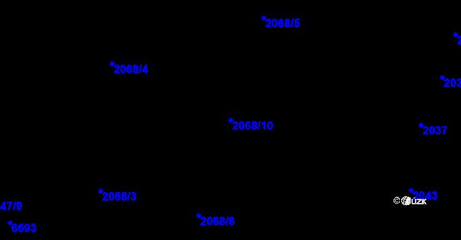 Parcela st. 2068/10 v k.ú. Nivnice, Katastrální mapa