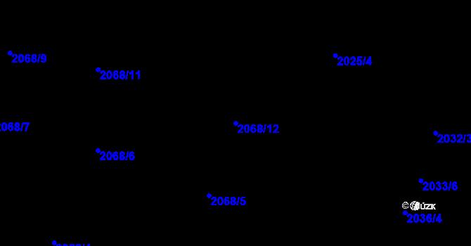 Parcela st. 2068/12 v k.ú. Nivnice, Katastrální mapa