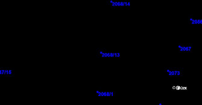 Parcela st. 2068/13 v k.ú. Nivnice, Katastrální mapa