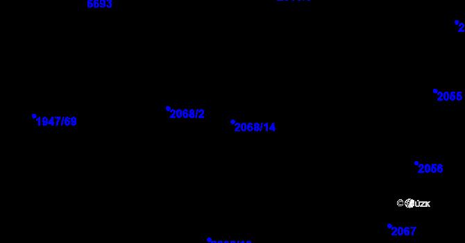 Parcela st. 2068/14 v k.ú. Nivnice, Katastrální mapa