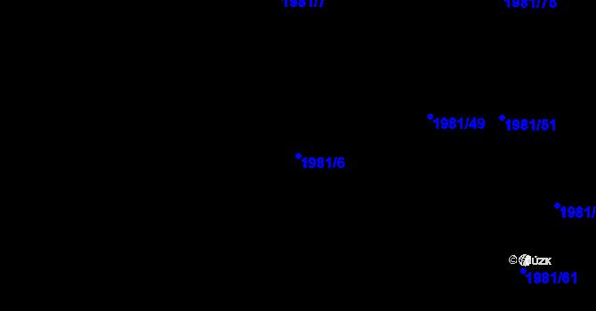 Parcela st. 1981/6 v k.ú. Nivnice, Katastrální mapa