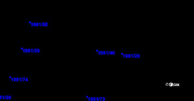 Parcela st. 1981/46 v k.ú. Nivnice, Katastrální mapa