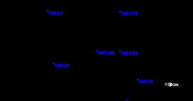 Parcela st. 1981/49 v k.ú. Nivnice, Katastrální mapa