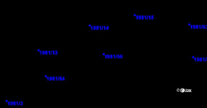 Parcela st. 1981/56 v k.ú. Nivnice, Katastrální mapa