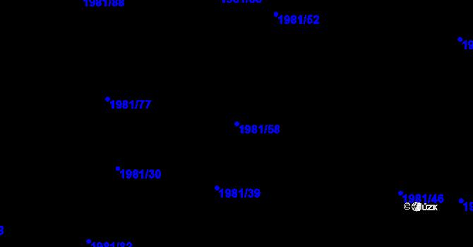 Parcela st. 1981/58 v k.ú. Nivnice, Katastrální mapa