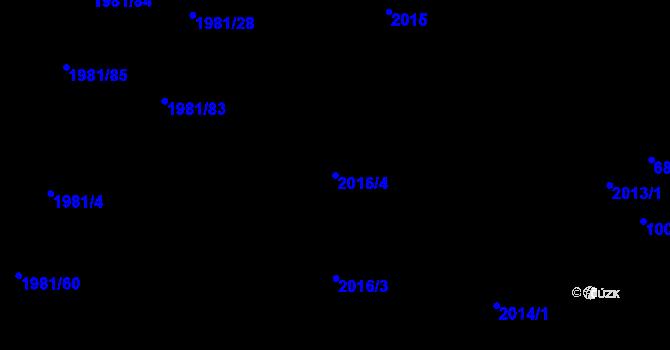 Parcela st. 2016/4 v k.ú. Nivnice, Katastrální mapa