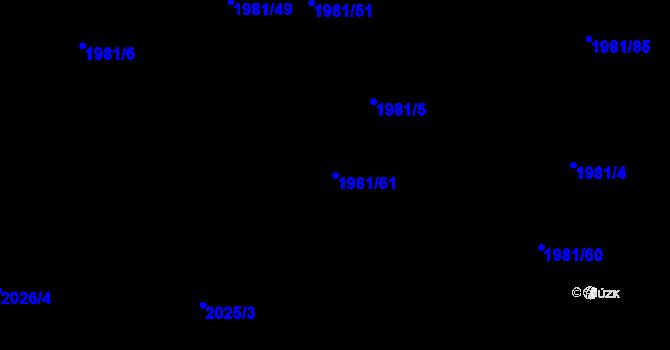 Parcela st. 1981/61 v k.ú. Nivnice, Katastrální mapa
