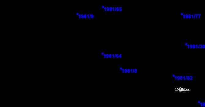 Parcela st. 1981/64 v k.ú. Nivnice, Katastrální mapa
