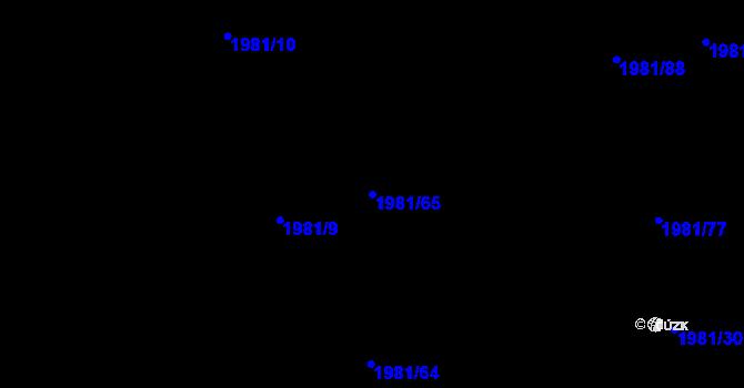 Parcela st. 1981/65 v k.ú. Nivnice, Katastrální mapa