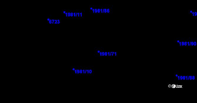 Parcela st. 1981/71 v k.ú. Nivnice, Katastrální mapa