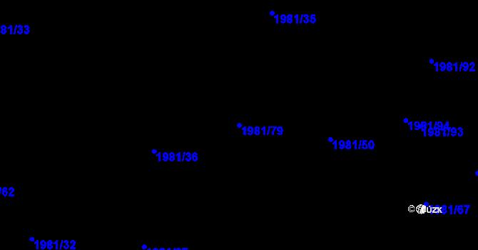 Parcela st. 1981/79 v k.ú. Nivnice, Katastrální mapa