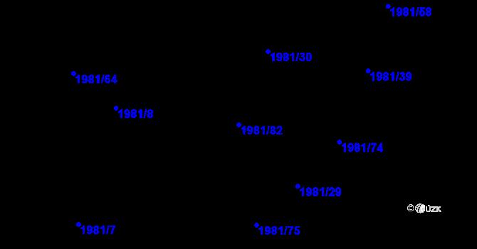 Parcela st. 1981/82 v k.ú. Nivnice, Katastrální mapa
