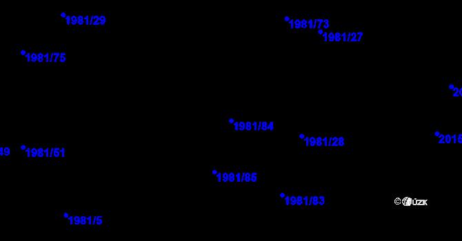 Parcela st. 1981/84 v k.ú. Nivnice, Katastrální mapa