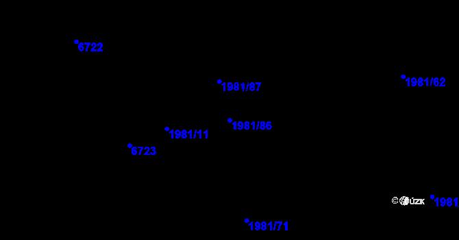 Parcela st. 1981/86 v k.ú. Nivnice, Katastrální mapa