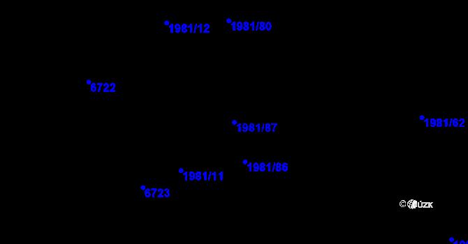 Parcela st. 1981/87 v k.ú. Nivnice, Katastrální mapa