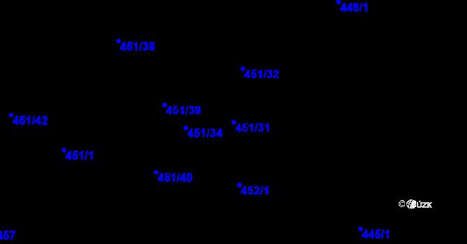 Parcela st. 451/31 v k.ú. Nová Bělá, Katastrální mapa