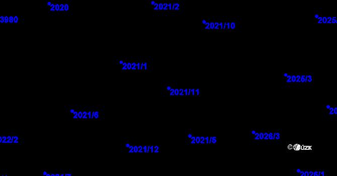 Parcela st. 2021/11 v k.ú. Nová Paka, Katastrální mapa