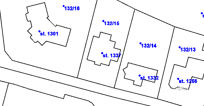 Parcela st. 1337 v k.ú. Nová Role, Katastrální mapa