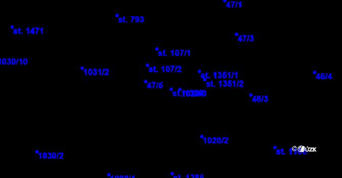 Parcela st. 1330 v k.ú. Nová Role, Katastrální mapa