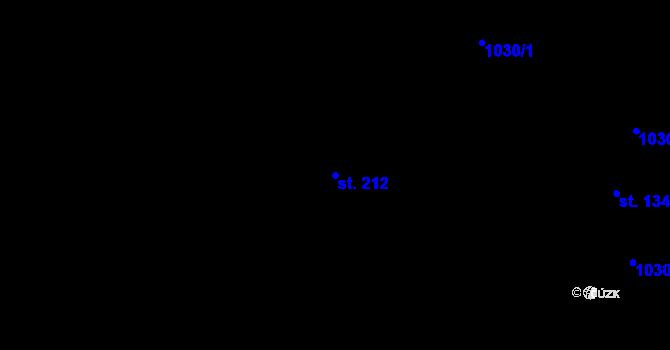 Parcela st. 212 v k.ú. Nová Role, Katastrální mapa