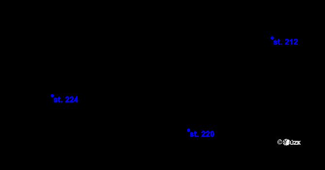 Parcela st. 220 v k.ú. Nová Role, Katastrální mapa