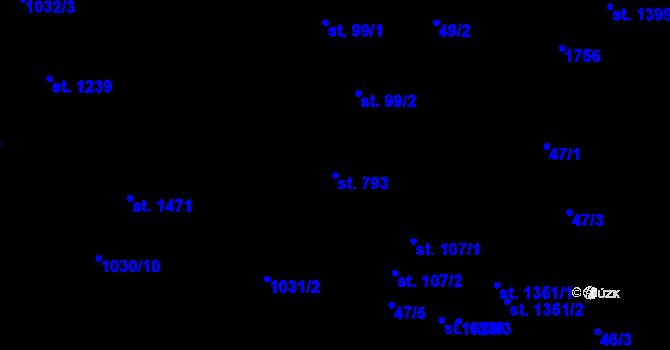 Parcela st. 793 v k.ú. Nová Role, Katastrální mapa