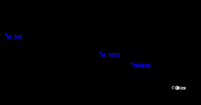 Parcela st. 1032 v k.ú. Nová Role, Katastrální mapa