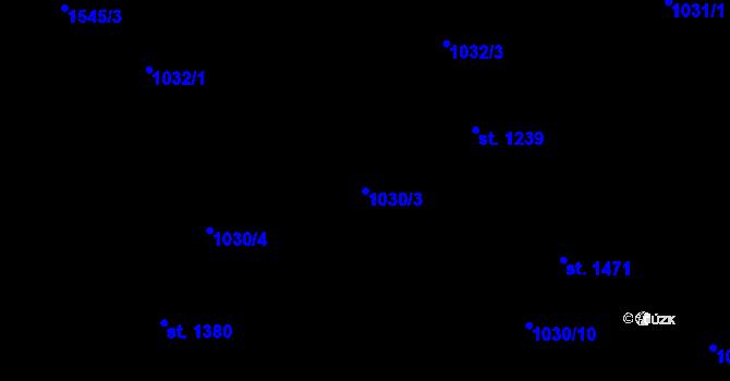 Parcela st. 1030/3 v k.ú. Nová Role, Katastrální mapa